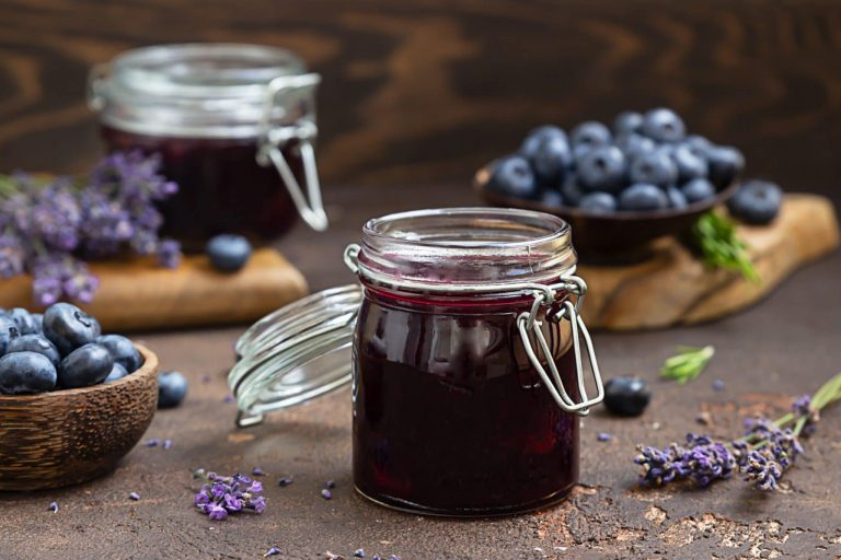 Simple Blueberry Lavender Chia Jam