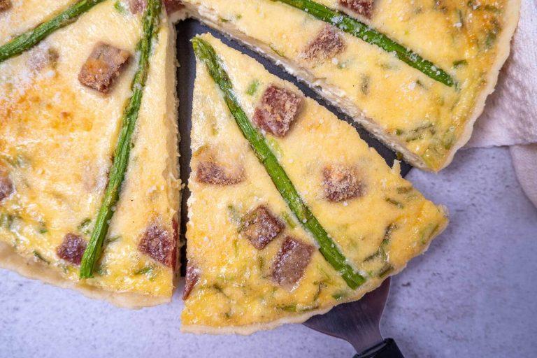 Easy Ham and Asparagus Quiche