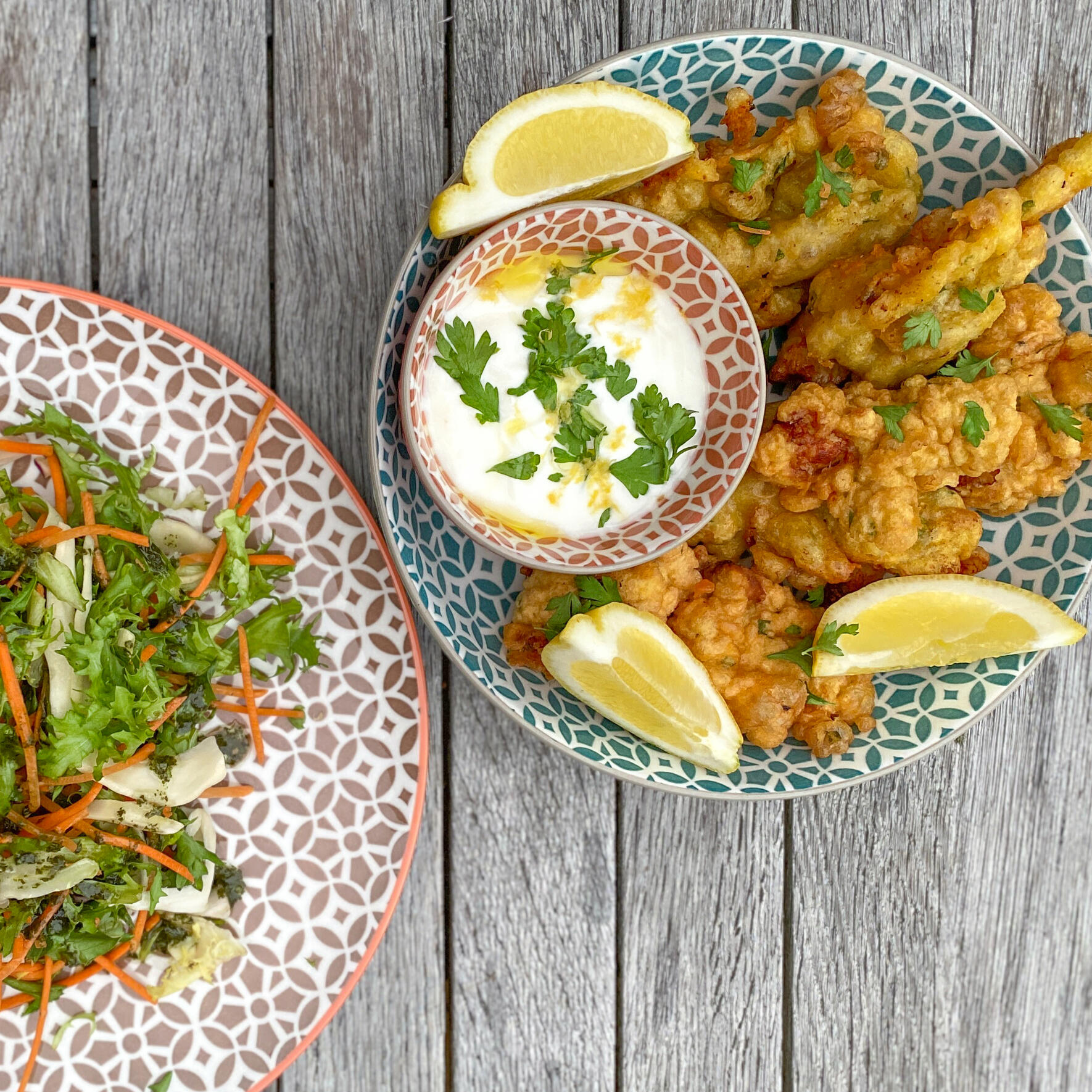 Moroccan Fried Chicken On Table