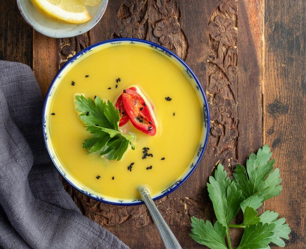 Palestinian lentil soup