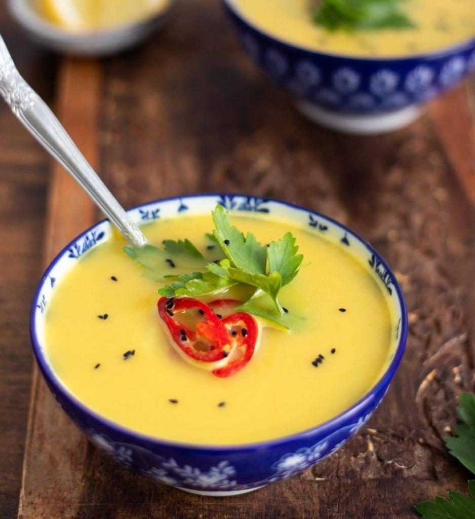 Enjoying Palestinian Lentil Soup