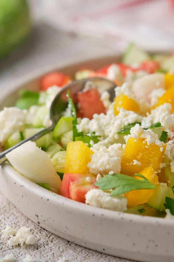 Simple Bulgarian Shopska Salad
