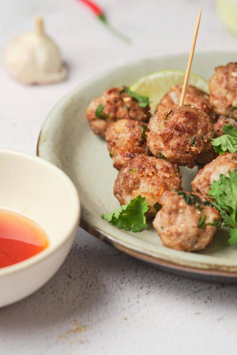 Simple Thai Chili Meatballs