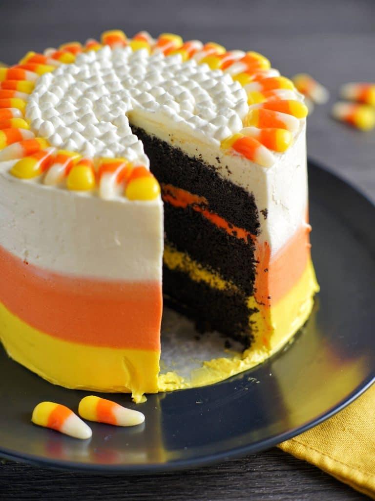 Simple Candy Corn Cake