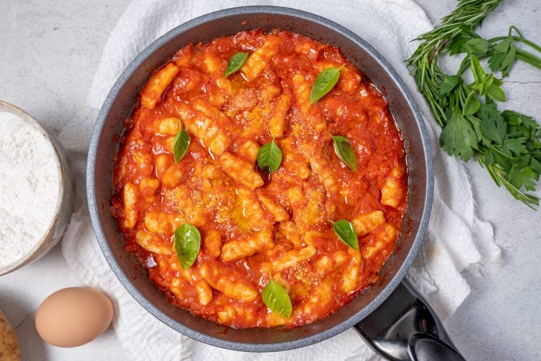 Simple Homemade Gnocchi Pomodoro