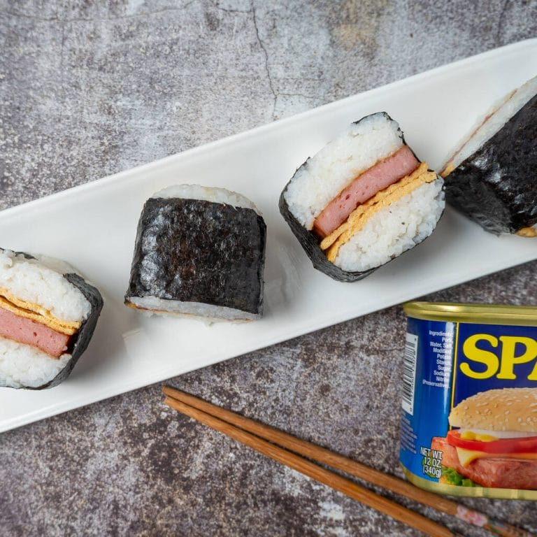 Simple Spam Musubi With Egg