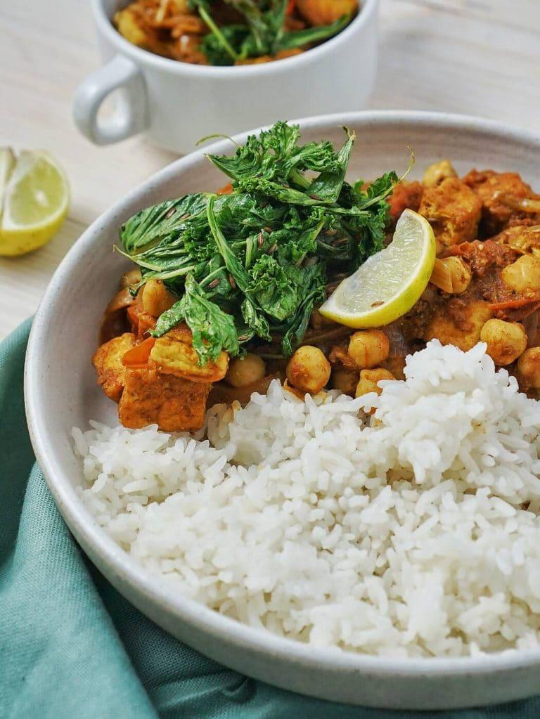 Simple Tofu Chickpea Curry